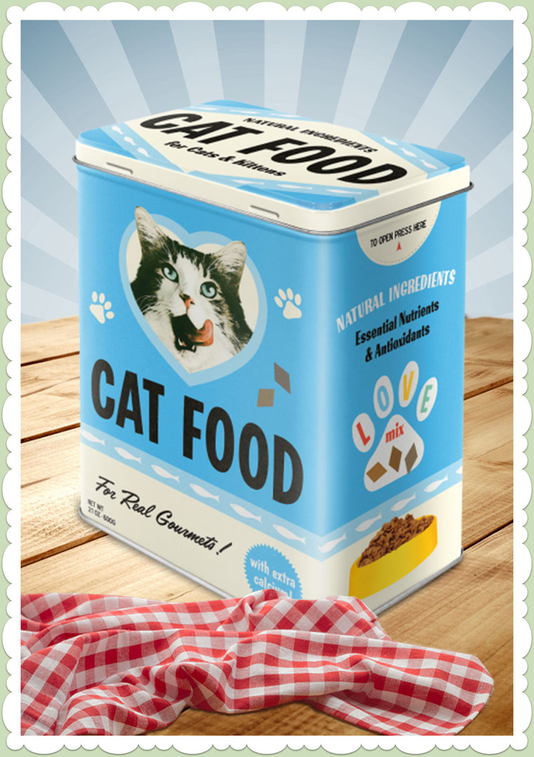 "Nostalgic Art Retro Say it 50´s Vorratsdose L ""Cat Food - Love Mix"""