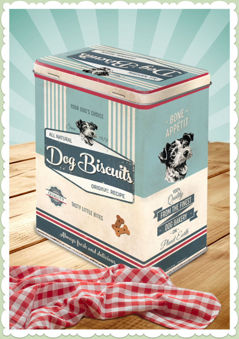 "Nostalgic Art Retro Say it 50´s Vorratsdose L ""Dog Biscuits"""