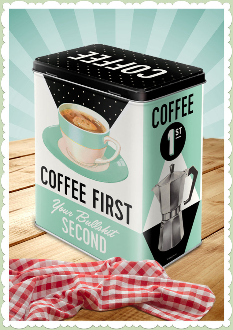 "Nostalgic Art Retro Say it 50´s Vorratsdose L ""Coffee First"""