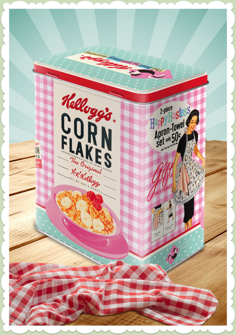 "Nostalgic Art Retro Say it 50´s Vorratsdose L ""Kellog's- Happy Hostess Corn"""