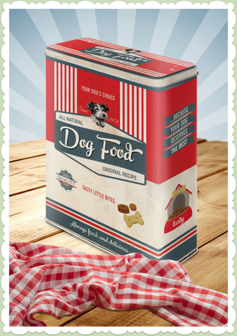 "Nostalgic Art Retro Vintage Vorratsdose XL ""PfotenSchild - Dog Food"""
