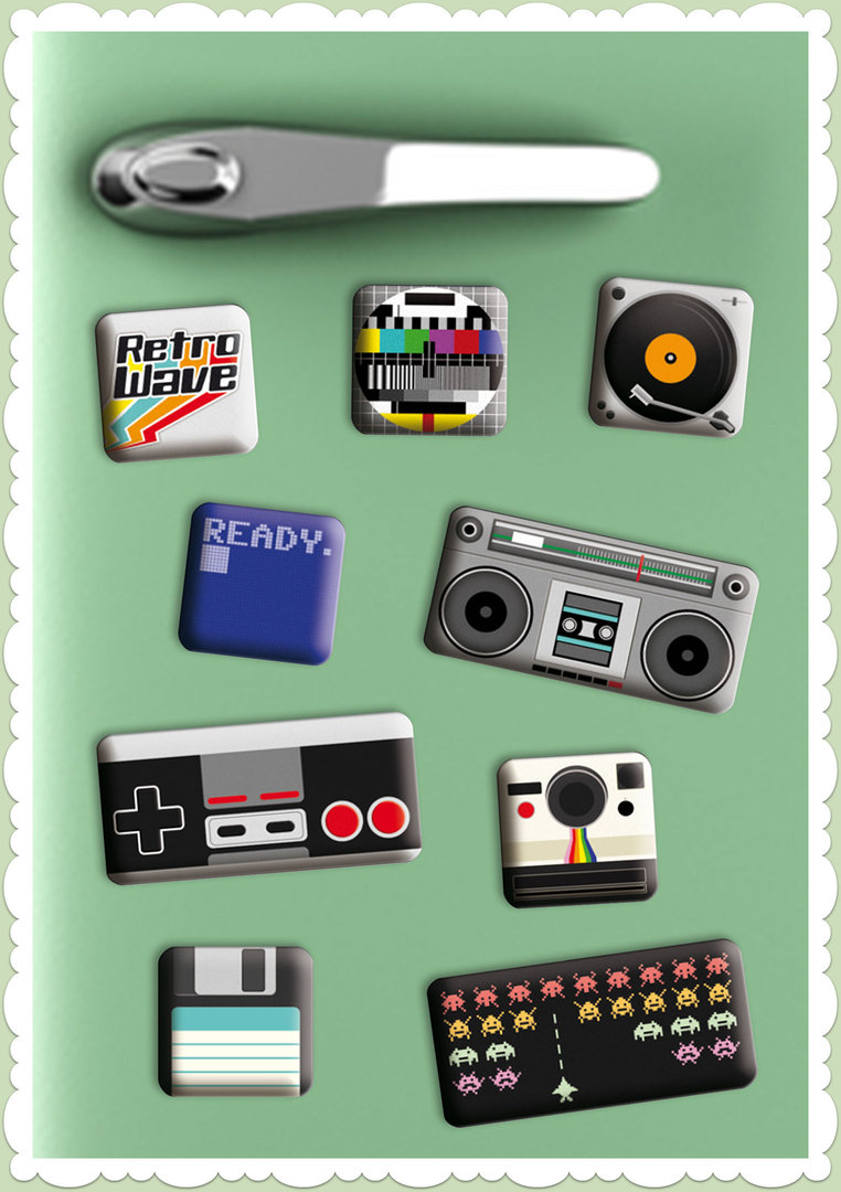 "Nostalgic Art Retro Vintage Magnet-Set ""Retro Wave Media"""
