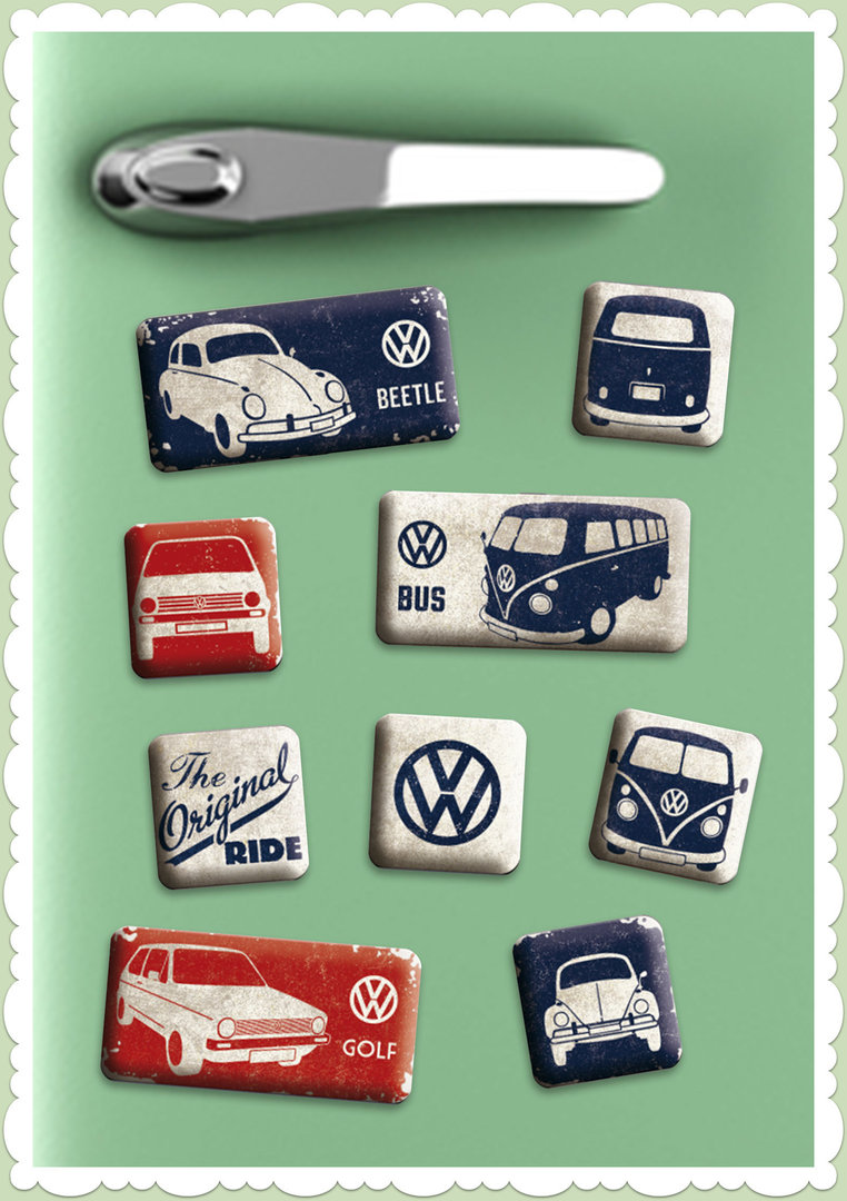 "Nostalgic Art Retro Vintage Magnet-Set ""VW - The Original Ride"""