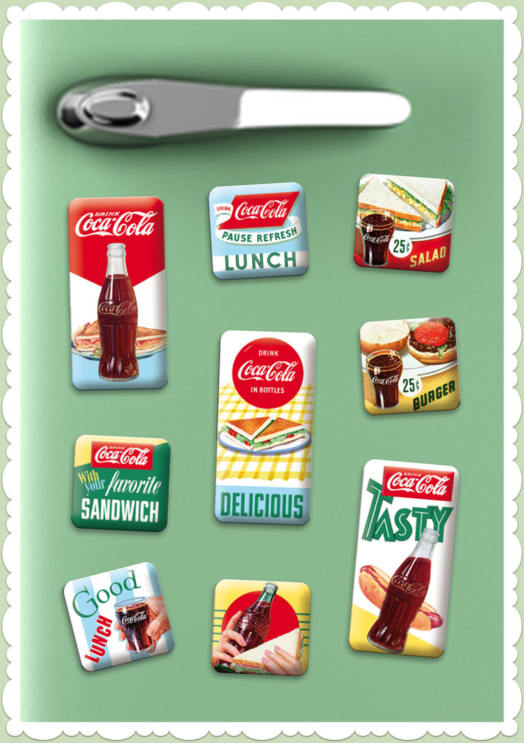 "Nostalgic Art Retro Vintage Magnet-Set ""Coca-Cola Delicious"""