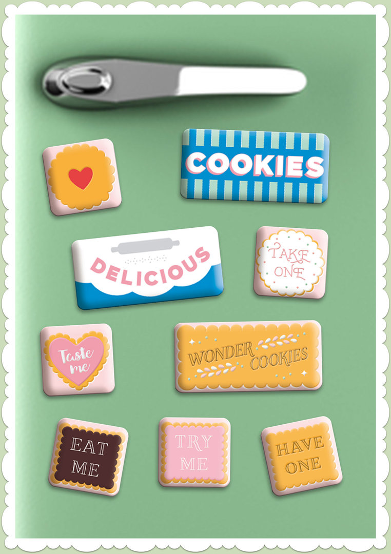 "Nostalgic Art Retro Vintage Magnet-Set ""Wonder Cookies"""