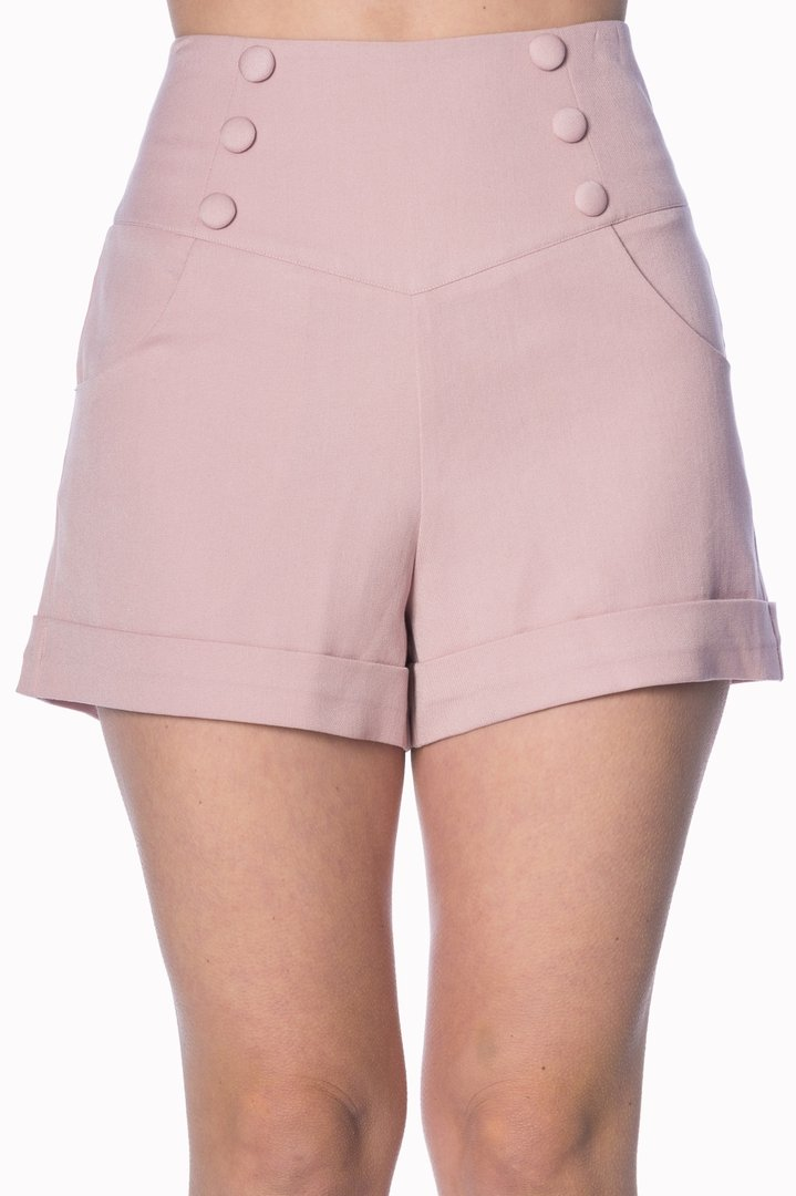 15bb1c8c91dfb3 Banned 50er Jahre Retro Sailor Shorts Hose - Cute As A Button - Rosa