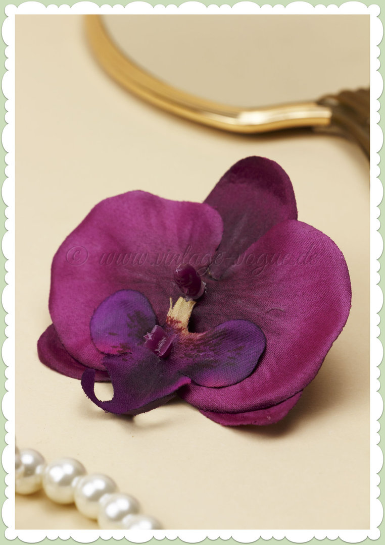Lady Luck 50er Jahre Retro Vintage Haarblume Orchidee - Sherrie - Pink