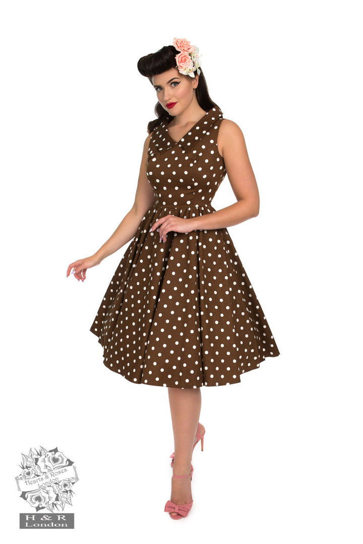 Hearts & Roses 50er Jahre Punkte Petticoat Kleid ...
