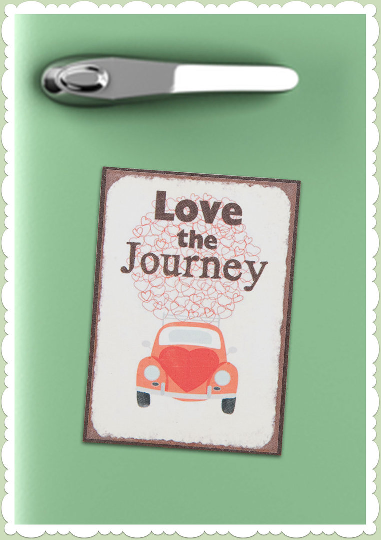 "Clayre & Eef 50er Jahre Retro Vintage Magnet ""Love the Journey"""