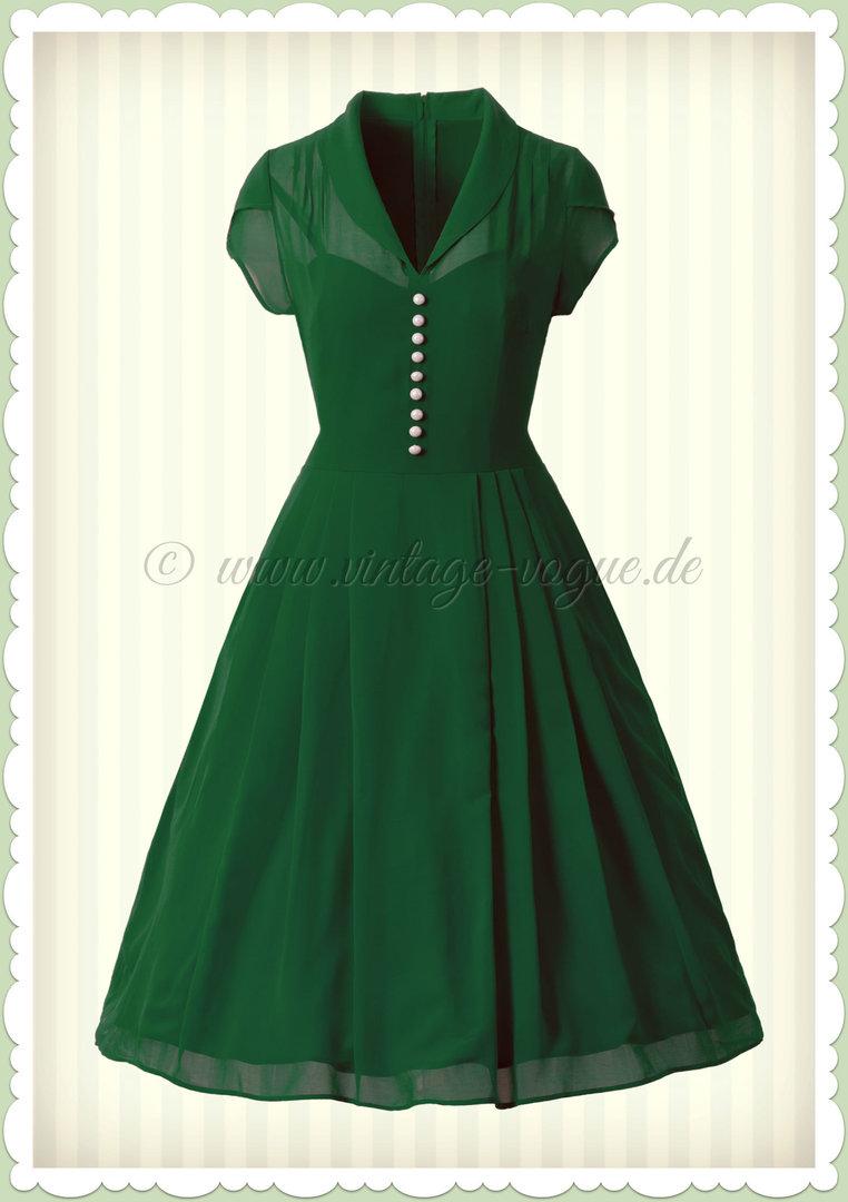 hell bunny 40er jahre retro vintage kleid - paige - dunkel grün