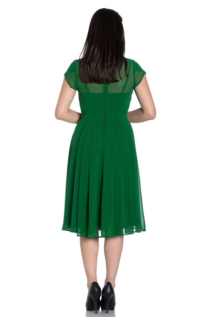Hell Bunny 40er Jahre Retro Vintage Kleid - Paige - Dunkel ...