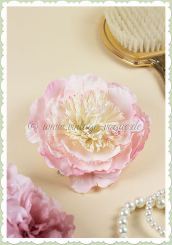 Lady Luck 50er Jahre Retro Vintage Haarblume Rose - Peony - Rosa