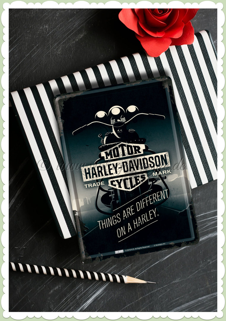 "Nostalgic Art Retro Harley Blechpostkarte ""Harley-Davidson - Things Are ..."""