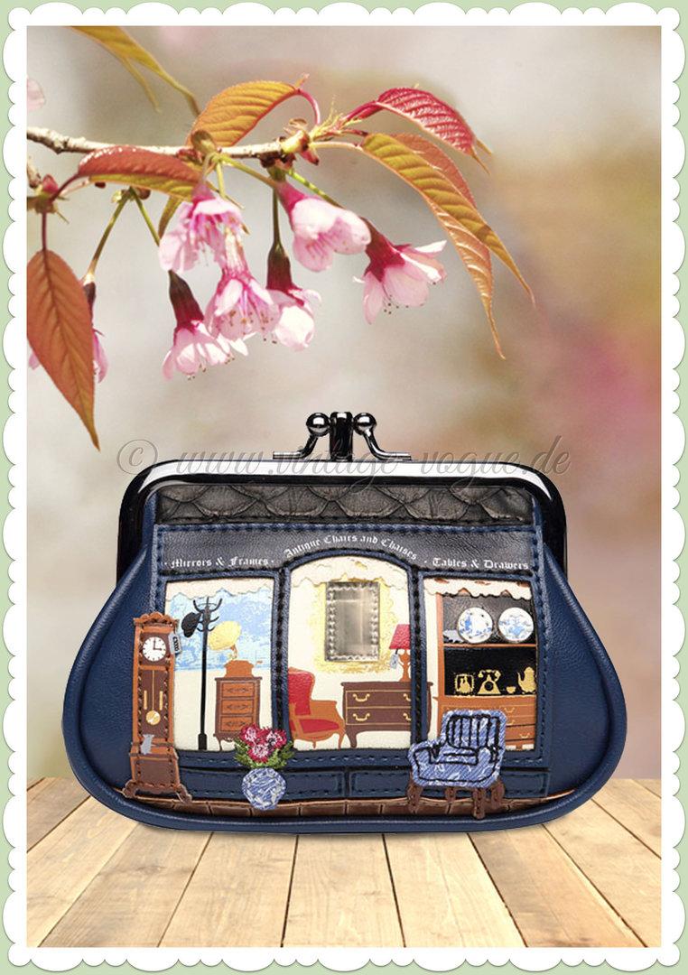 1b0a4ed071037 Vendula London 60er Jahre Retro Kleingeldbörse - Vendula Antiques - Blau