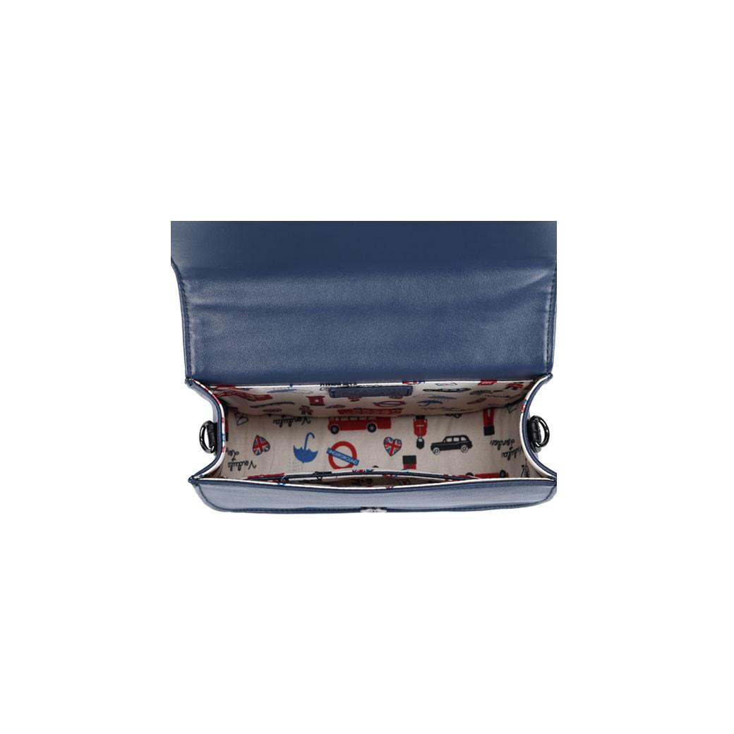 42b4630813bf3 Vendula London 60er Jahre Retro Handtasche - Vendula Antiques - Blau