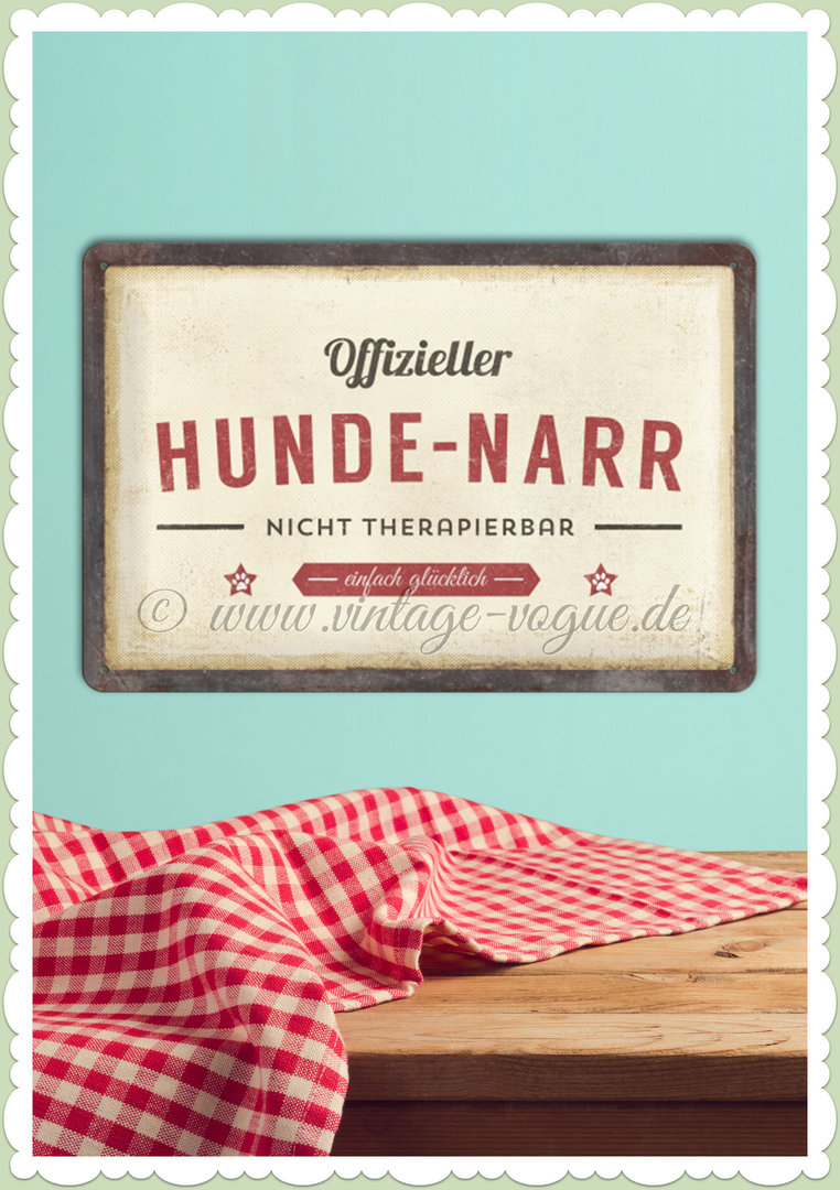 "Nostalgic Art Retro Pin Up Blechschild ""Hunde-Narr"""