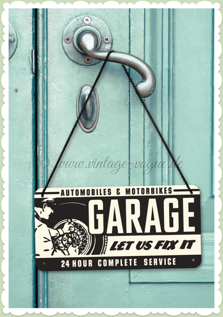 "Nostalgic Art Retro Pin Up Hängeschild ""Garage"""