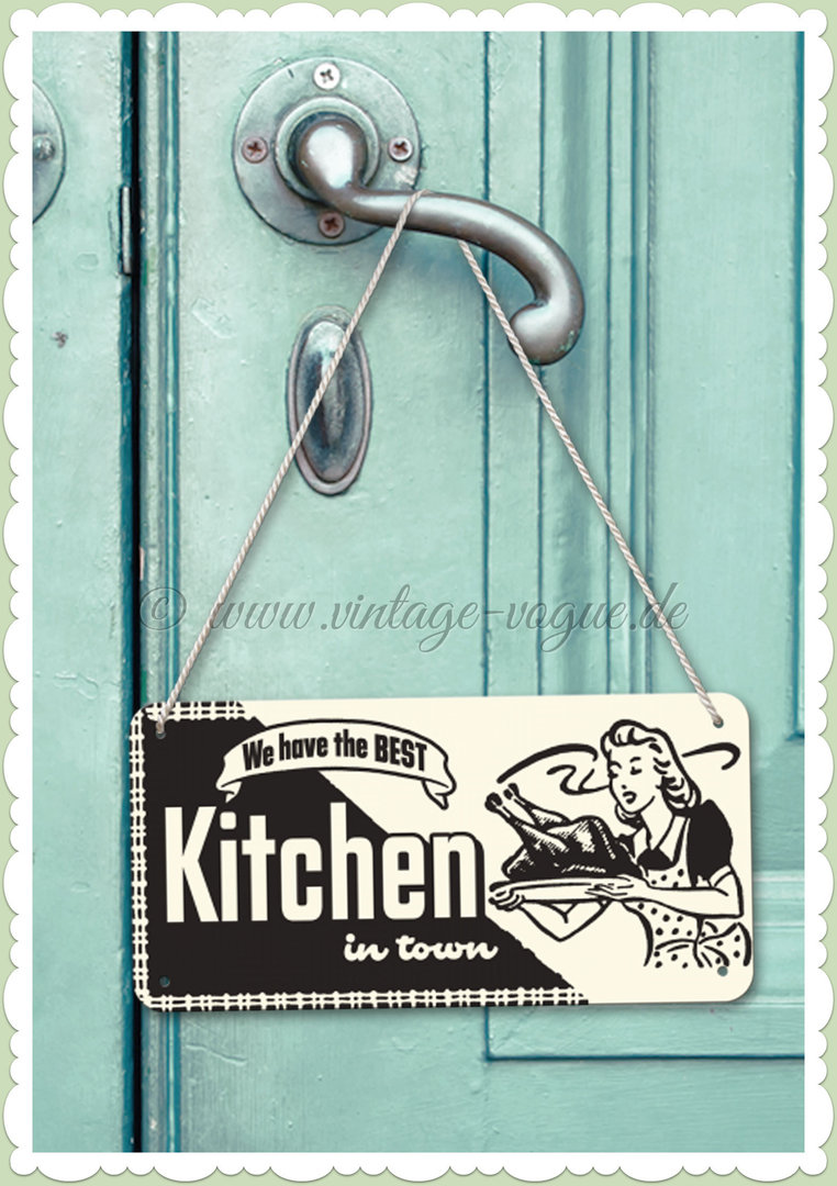 "Nostalgic Art Retro Pin Up Hängeschild ""Kitchen"""