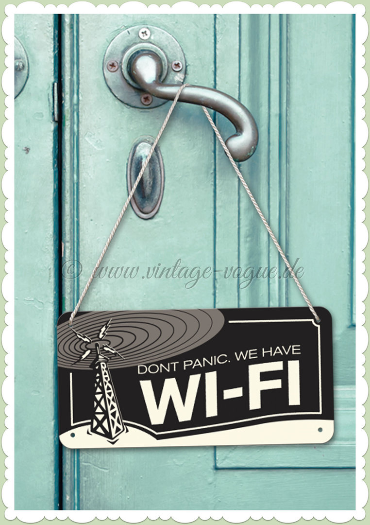 "Nostalgic Art Retro Pin Up Hängeschild ""WI-FI"""