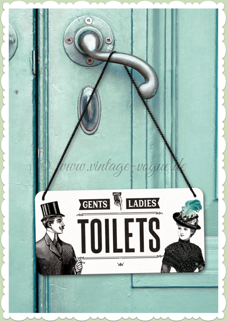 "Nostalgic Art Retro Pin Up Hängeschild ""Ladies & Gentlemen Toilets"""