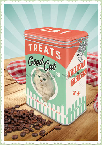 "Nostalgic Art Retro USA Kaffeedose ""Cat Treats Good Boy"""