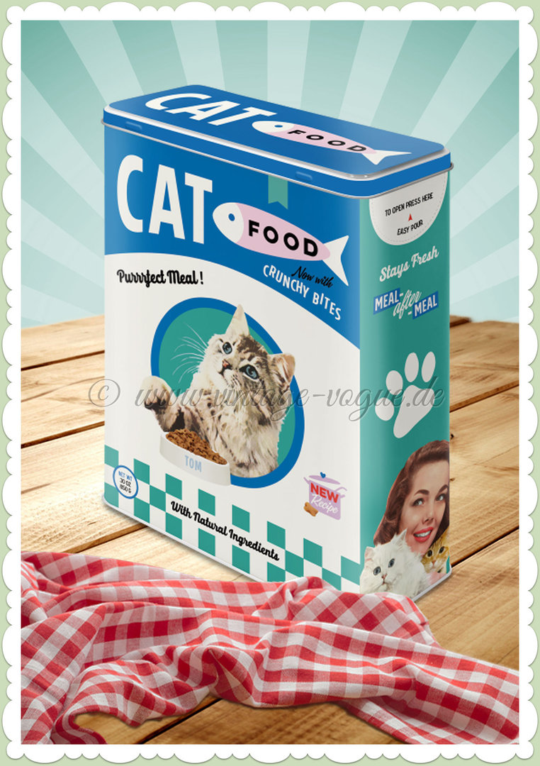 "Nostalgic Art Retro Vintage Vorratsdose XL ""Cat Food"""
