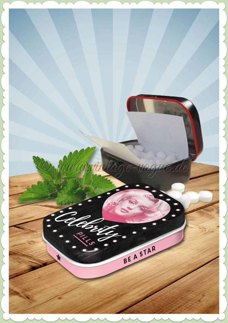 "Nostalgic Art Retro Vintage Pillendose ""Marilyn - Celebrity Pills"""