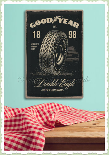 "Nostalgic Art Retro Blechschild ""Goodyear - Double Eagle"""