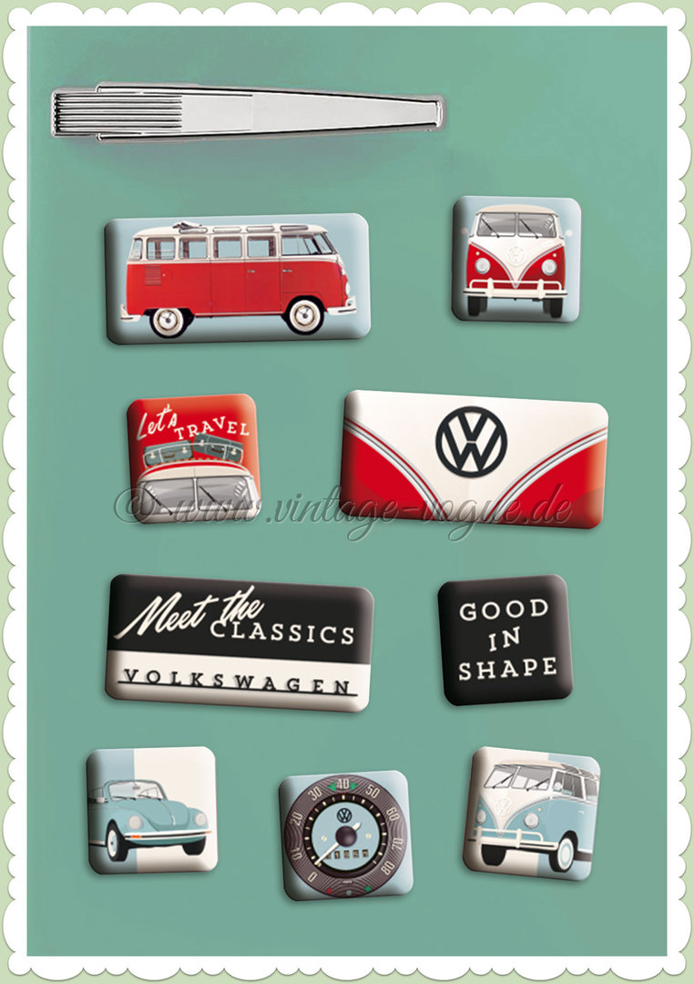 "Nostalgic Art Retro Vintage Magnet-Set ""VW - Meet The Classics"""
