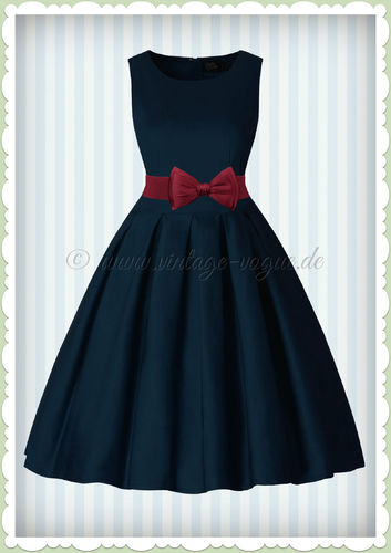 Dolly & Dotty 50er Jahre Vintage Retro Petticoat Kleid - Lola - Navy Blau