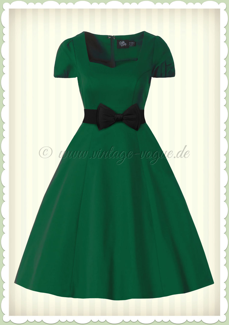 Dolly & Dotty 50er Jahre Rockabilly Petticoat Kleid - Claudia - Grün