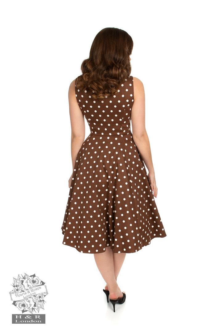 Hearts & Roses 50er Jahre Rockabilly Vintage Punkte Kleid ...