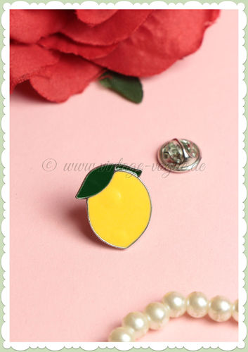 Miss Millinery 50er Jahre Retro Vintage Brosche Pin - Little Lemon - Gelb