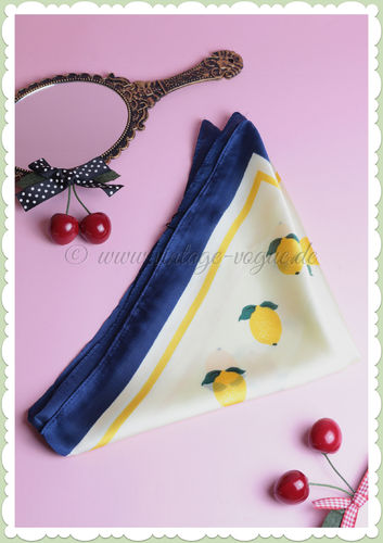 Banned 50s Pin Up Retro Rockabilly Chiffon Haarband - Lemon - Gelb