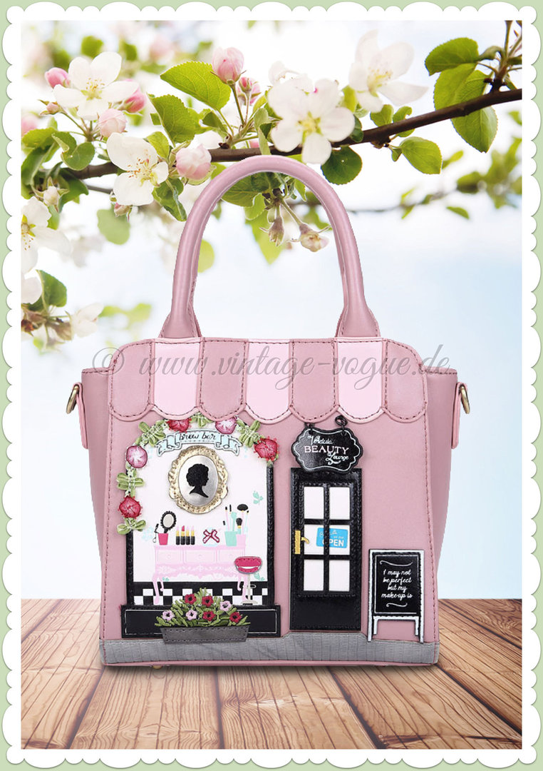 Vendula London 60er Jahre Retro Handtasche - Beauty Lounge - Rosa