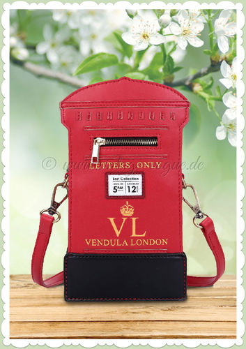 Vendula London 60er Jahre Retro Vintage Handtasche - Post Box - Rot
