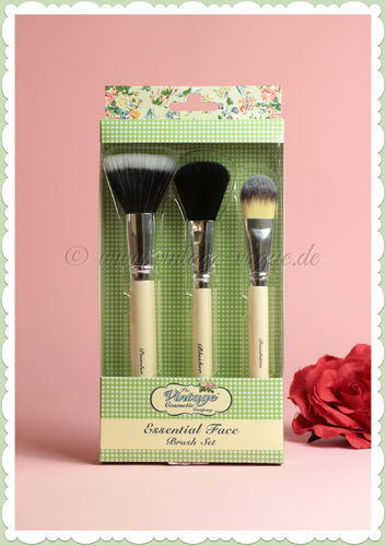 The Vintage Cosmetics Company -  Retro Essential Make-Up Pinsel Set