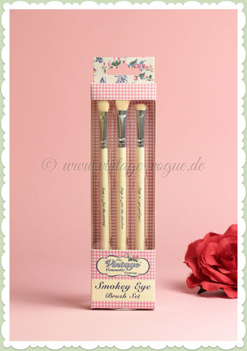 The Vintage Cosmetics Company -  Retro Make-Up Lidschatten Pinsel Set