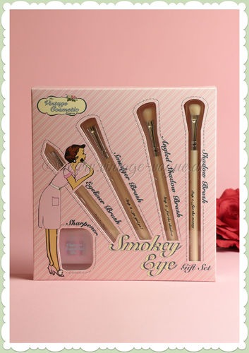 The Vintage Cosmetics Company -  Make-Up Lidschatten Pinsel Geschenk Set