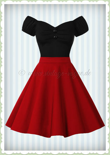 Dolly & Dotty 50er Jahre Retro Petticoat Teller Rock - Shirl - Rot