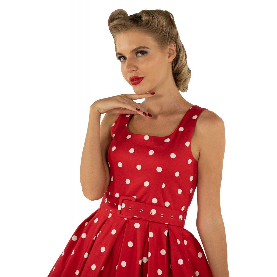 Dolly & Dotty 50er Jahre Retro Petticoat Punkte Kleid ...