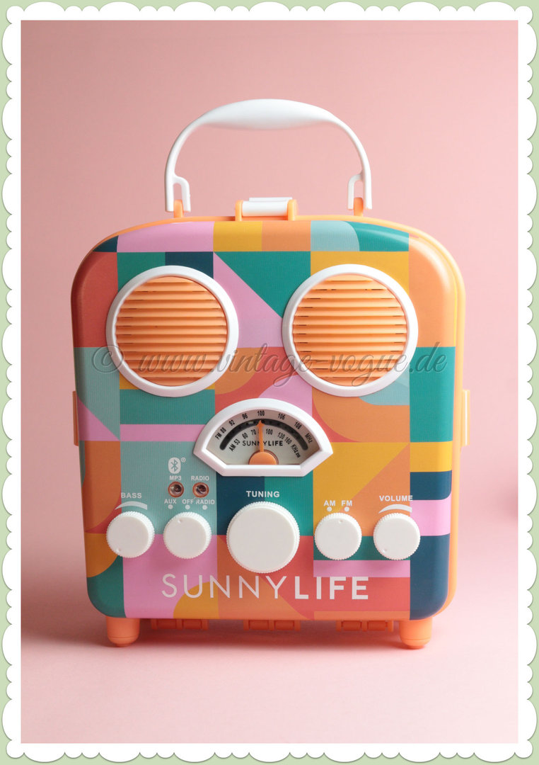 SunnyLife Retro Beach Sounds Radio & Bluetooth Lautsprecher - Islabomba
