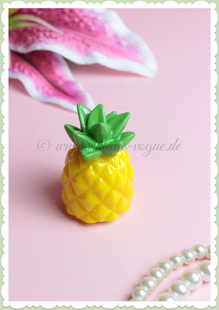 SunnyLife Retro Lippen Balsam / Pflege Fruit Salad - Pineapple