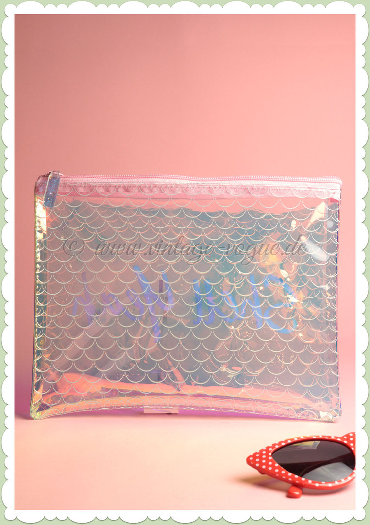 SunnyLife Retro See Thru Pouch Clutch Tasche - Mermaid