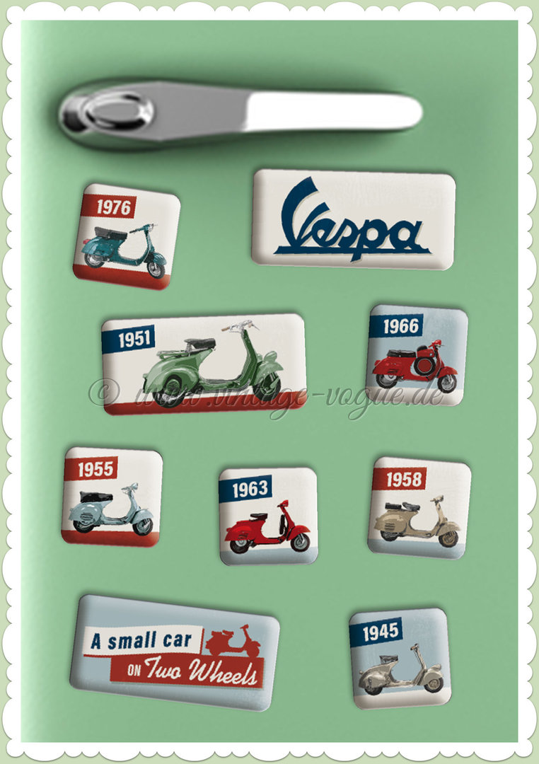 "Nostalgic Art Retro Vintage Magnet-Set ""Vespa - Model Chart"""