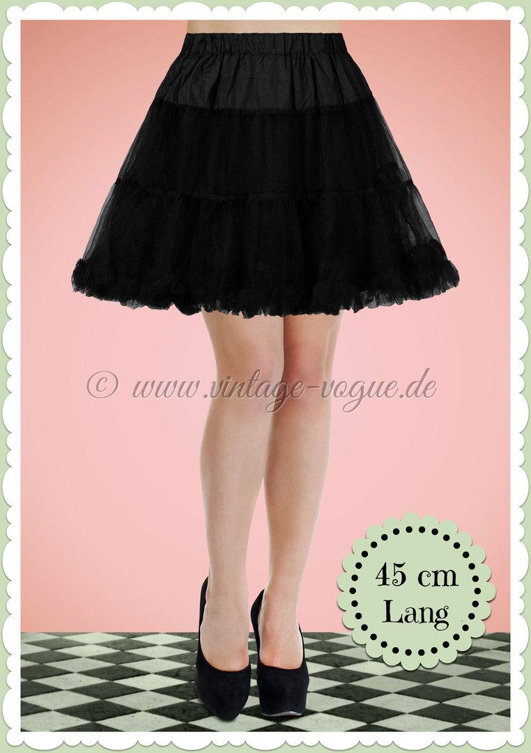 8195f344696da Boolavard 1950's Organza Rockabilly Petticoat Push-Up Tanzrock Schwarz