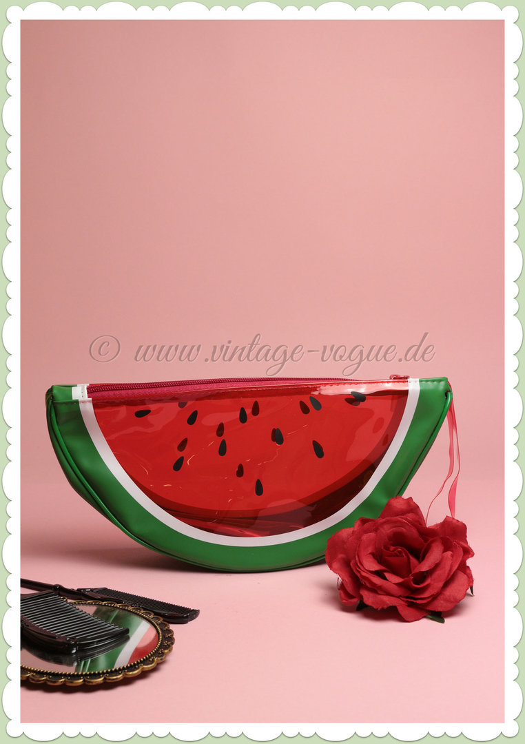 SunnyLife Retro Watermelon See Thru Clutch Tasche - Wassermelone