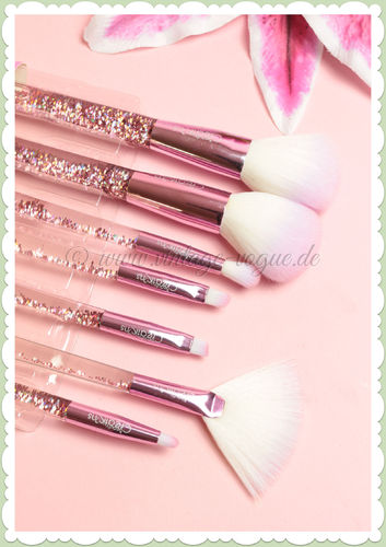 Beauty Creations -  Retro Make-Up Glitter Pinsel Set - Liquid Rose Sparkle