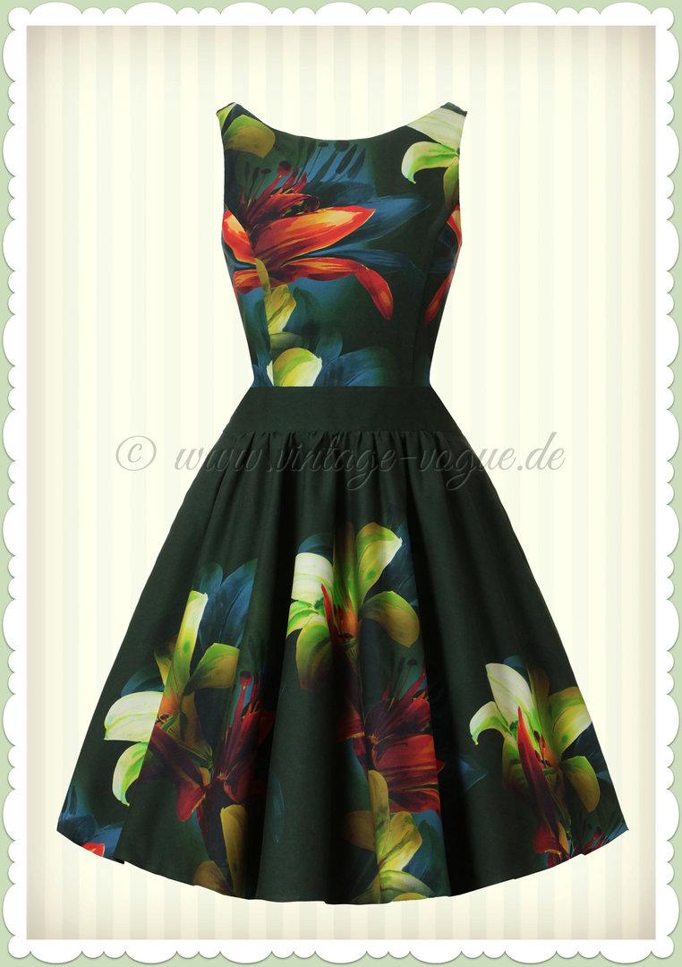 Kleid grun floral