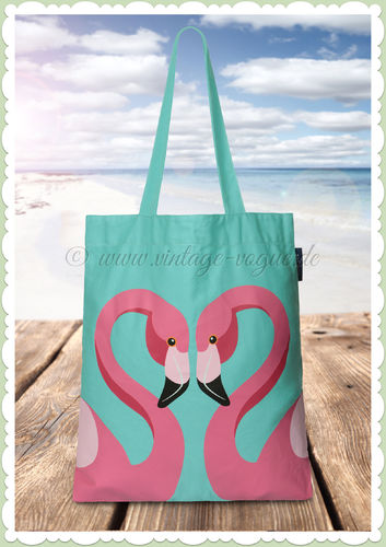 SunnyLife Retro Flamingo Tragetasche Tote Bag - Flamingo